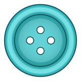 Blue cloth button icon, cartoon style. Blue cloth button icon. Cartoon illustration of blue cloth button vector icon for web royalty free illustration
