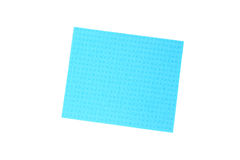 Blue cloth for cleaning tile. Royalty Free Stock Photos