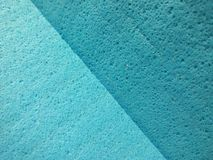 Blue cloth. Close up view of blue sponge cloth Royalty Free Stock Images