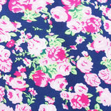Blue cloth with floral pattern Royalty Free Stock Image