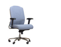 The blue cloth office chair isolated Royalty Free Stock Image