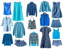 Blue clothes Royalty Free Stock Image