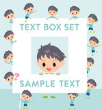 Blue clothing boy text box Stock Images