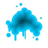 Blue cloud abstract isolated on white background.  Royalty Free Stock Images