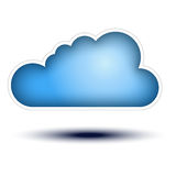 Blue Cloud Button Concept on white background Royalty Free Stock Photography