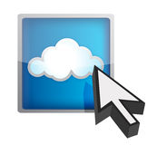 Blue cloud computing icon Stock Photos