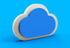 Blue cloud 3D Royalty Free Stock Photos