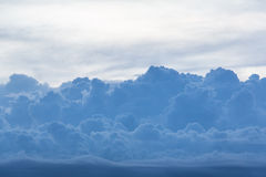 Blue cloud at evening Royalty Free Stock Image