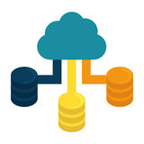 Blue cloud hosting data center Royalty Free Stock Photography