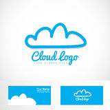 Blue cloud hosting logo Royalty Free Stock Photo