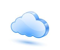 Blue cloud icon Stock Images