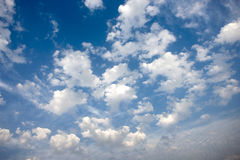 Blue cloud image. Blue sky with white close up cloud image Royalty Free Stock Photo