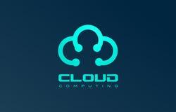 Blue cloud logo icon design Stock Photos