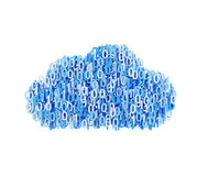 Blue cloud with number Stock Image