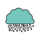 blue cloud rainning icon Royalty Free Stock Images