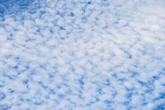 Blue cloud sky texture background. Stock Image