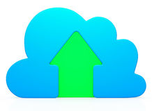 Blue Cloud Upload icon Royalty Free Stock Images
