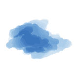 Blue cloud on a white background. Stock Images