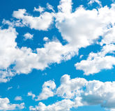 Blue cloudly sky Stock Image