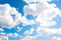 Blue cloudly sky Stock Images