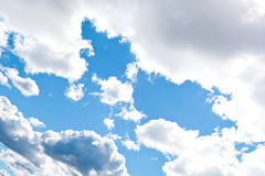 Blue cloudly sky Stock Photo