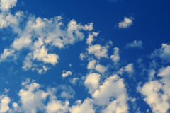 Blue clouds. Atmosphere blue clouds in sunny day Royalty Free Stock Photo