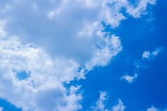 Blue and clouds. Beautiful blue sky and clouds in summer Royalty Free Stock Photo