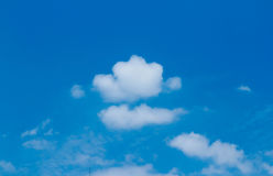Blue and clouds. Beautiful blue sky and clouds in summer Royalty Free Stock Photos