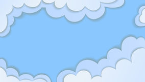 Blue clouds. Blue clouds cartoon vector background 16/9 Stock Photos
