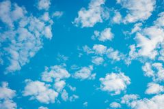 Blue clouds clear sky beautiful landscape environment Royalty Free Stock Image