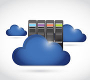 Blue clouds. cloud computing concept Stock Image