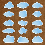 Blue clouds collection Stock Images