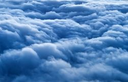Blue clouds from the high altitude. Sight on the blue clouds from the high altitude royalty free stock images