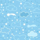 Blue clouds pattern Stock Photography