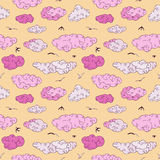 Blue Clouds, seamless pattern. Stock Image