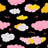 Blue Clouds, seamless pattern. Stock Photography