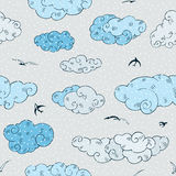 Blue Clouds, seamless pattern. Stock Photo