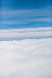 Blue clouds sky | beautiful bright nature background | high view outdoor cloudscape Royalty Free Stock Photography