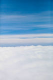 Blue clouds sky | beautiful bright nature background | high view outdoor cloudscape Stock Photography