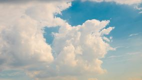 Blue clouds sky. In the sky royalty free stock photo