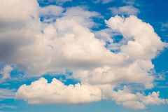 Blue clouds sky. In the sky stock photography