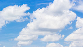 Blue clouds sky in daytime. Scenery of clouds on blue sky in summer royalty free stock image