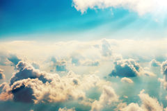 Blue clouds and sky Royalty Free Stock Images