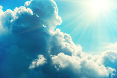 Blue clouds and sky Royalty Free Stock Photo