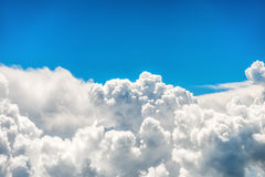 Blue clouds and sky. Natural background royalty free stock photography