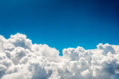 Blue clouds and sky. Natural cloudscape background royalty free stock photography