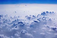 Blue clouds and sky. Natural cloudscape background Stock Photography