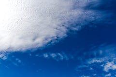 blue clouds sky white Στοκ Εικόνες