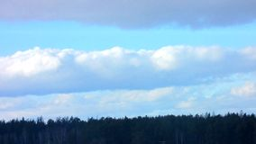 Blue Clouds. Time Lapse. stock video footage