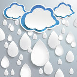 Blue Clouds White Full Drops One Direction Stock Photography